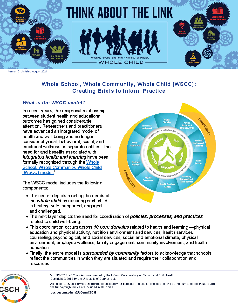 Cover page of WSCC Practice Overview Brief