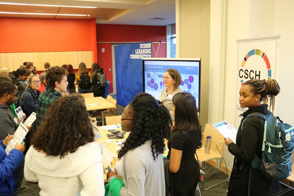 Sandra Chafouleas with UConnn students at Research Connections