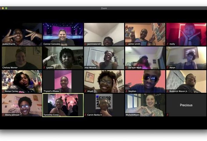 high school seniors who attended a virtual prom via Zoom on April 16 hosted by the Baton Rouge Youth Coalition.